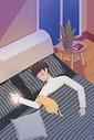 男生睡觉图片