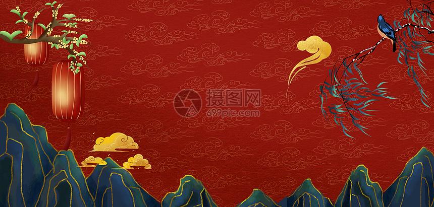 红色喜庆新年背景图片