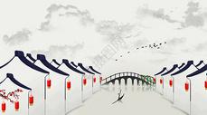 中国风水墨小镇图片