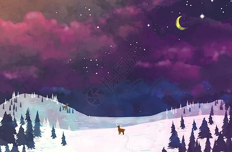 冬天美丽的天空图片