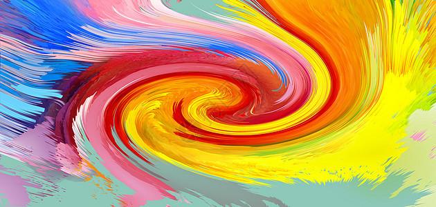 彩色泼墨抽象背景图片