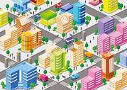 矢量立体城市图片