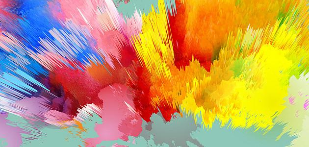 彩色泼墨背景图片