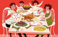 春节家庭聚餐图片