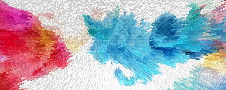 泼墨立体3d背景图片