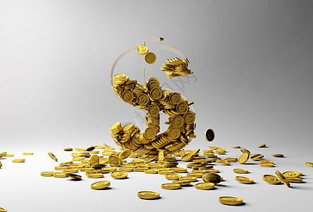 创意散落的金币图片