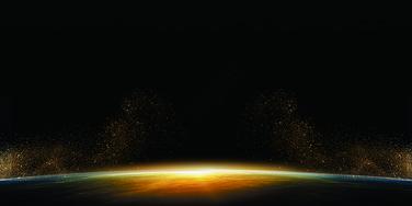 科技地球光背景图片