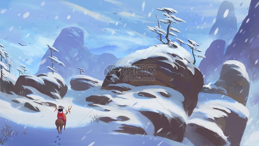 雪山中的春娃娃图片