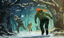 打雪仗的孩子图片