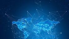 抽象蓝色地球科技背景图片