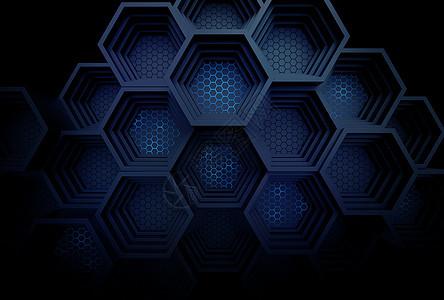 立体科技蜂窝背景图片