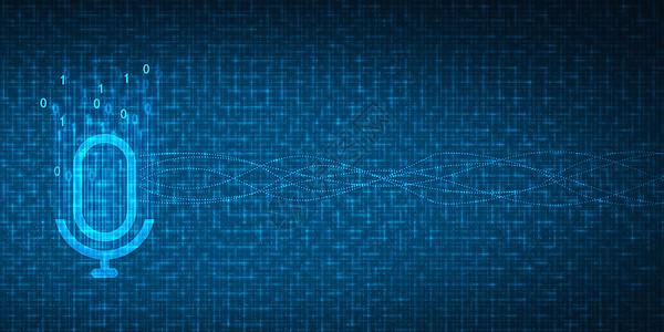 智能语音科技背景图片