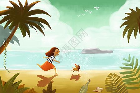 海边旅游开心时刻图片