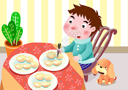 过年吃饺子高清图片