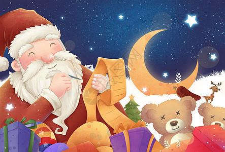 圣诞老人发礼物图片