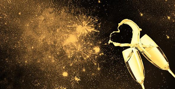 香槟庆祝背景图片
