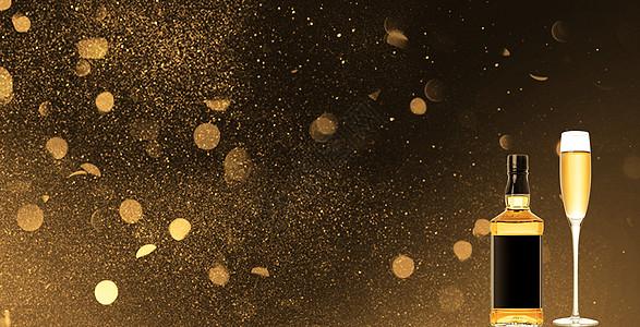 庆祝节日香槟背景图片