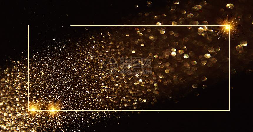 黑金大气活动背景图片
