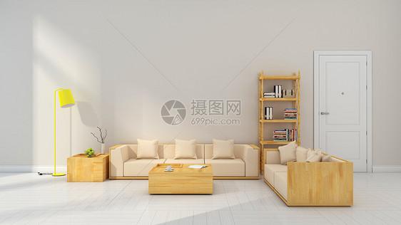 简约清新灰色系客厅室内家居背景图片