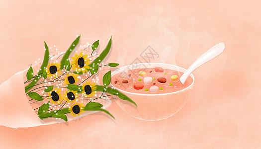 温馨腊八粥图片