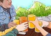 聚会举杯图片