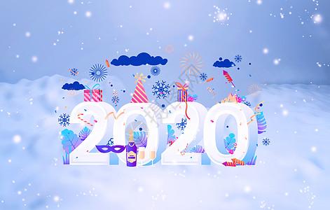 2018雪花背景图片