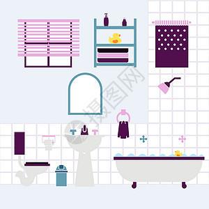 温馨儿童浴室图片