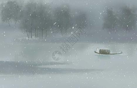 江南飘雪图片