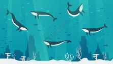 海底世界插画图片