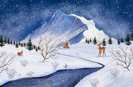 新的一年冬季风景图片