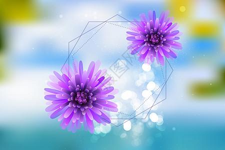 紫色梦幻印花矢量图图片