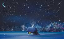 星空插画图片