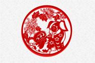 2018狗年大吉恭贺新春新年快乐happynewyear元旦海报背景矢量元素插画图片