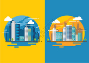 扁平化城市图片