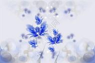 紫色梦幻水晶印花矢量图图片
