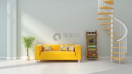 现代简约灰色系室内家居背景图片