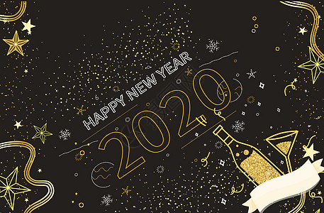2018年新年背景素材图片