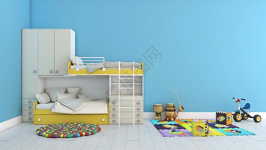简约清新室内儿童房家居背景图片