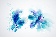 水光蓝色印花矢量图图片