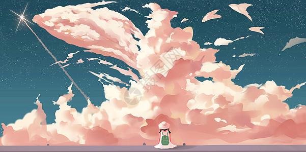 一个人的天空图片