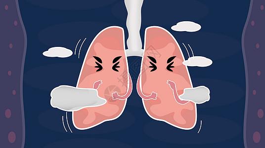 呼吸困难的肺图片