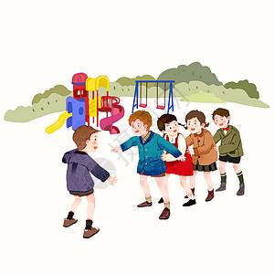 儿童游戏插画图片