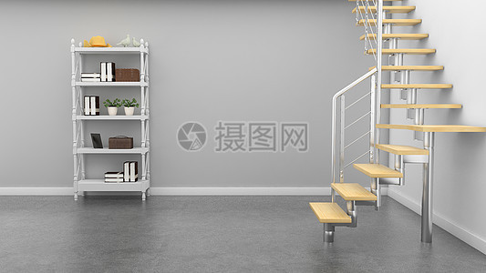 现代简约灰色系空间室内家居背景图片