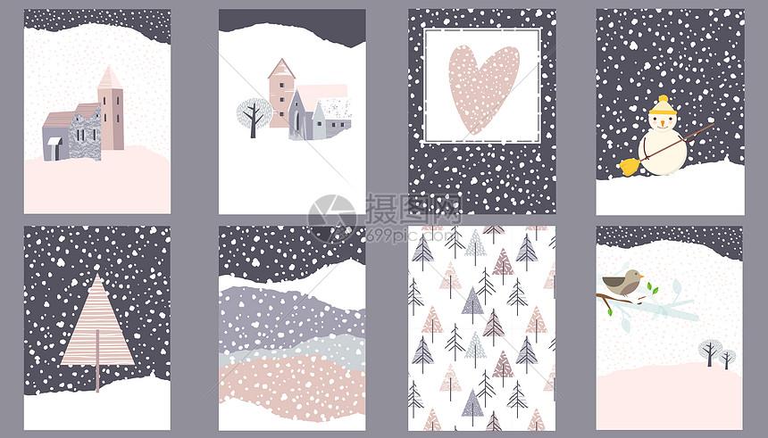 冬季卡片壁纸图片