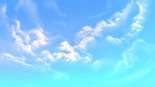 彩色天空白色云图片
