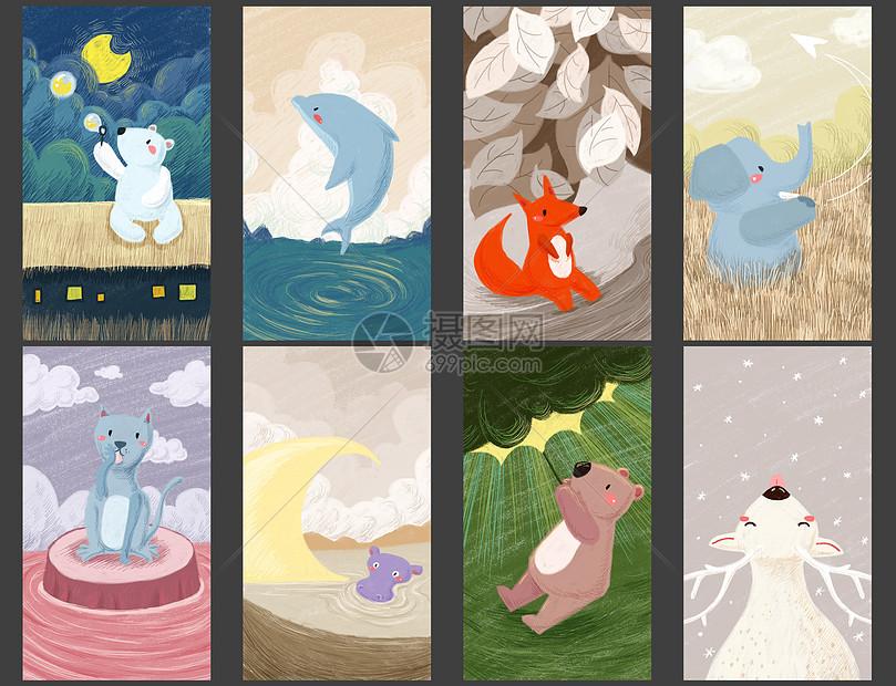 北极熊照片_治愈系动物手绘插画插画图片下载-正版图片400087222-摄图网