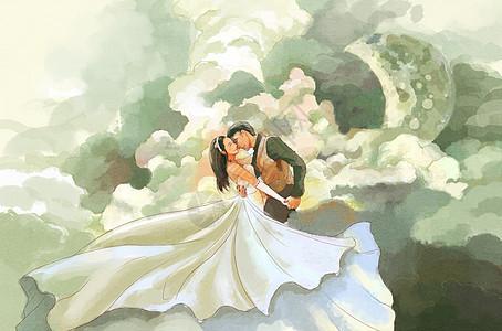 情人节拍婚纱照图片