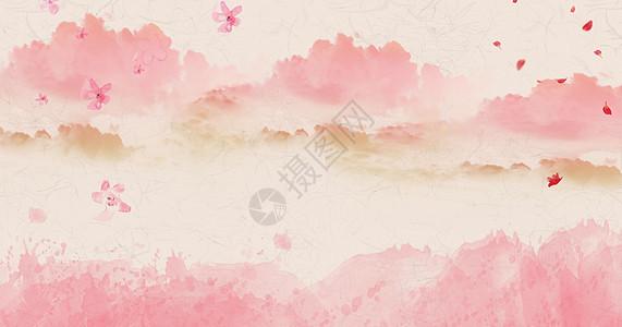 中国风写意水墨背景图片