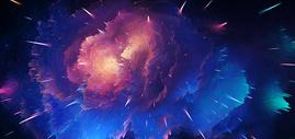 科幻星空喷溅背景图片