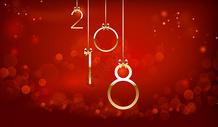 金色2018创意字体图片